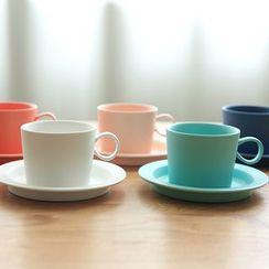川岛屋 - 套装: 水杯 + 碟子