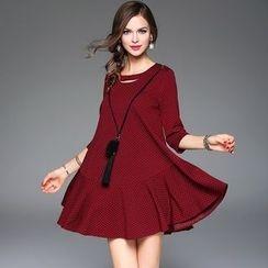 Queen Mulock - Dotted A-Line Dress