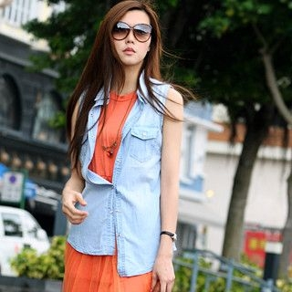 59 Seconds - Sleeveless Denim Shirt