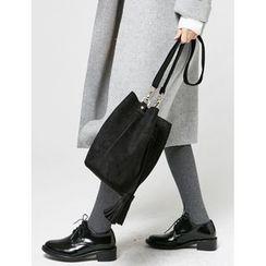 FROMBEGINNING - Faux-Suede Shoulder Bag