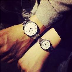 Crystalfa - Couple Matching Bracelet Watch