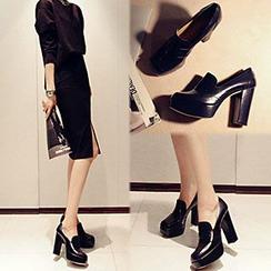 Siya - Chunky-Heel Platform Loafers