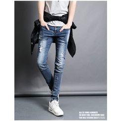 Gurbaks - Distressed Skinny Jeans