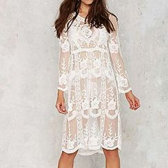 Sunset Hours - Embroidered Lace Cover-up