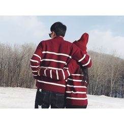 AJIEJIA - 情侶款條紋毛衣