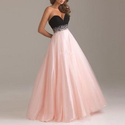 Katemi - Strapless Embellished Ball Gown