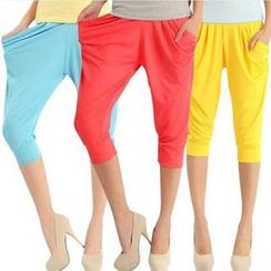 花小朵 - 纯色低胯裤