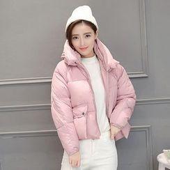lilygirl - 纯色夹棉大衣