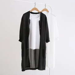 Piko - 3/4-Sleeve Long Chiffon Jacket