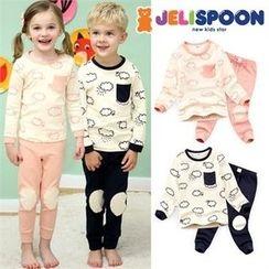 JELISPOON - Kids Pajama Set: Patterned Top + Pants