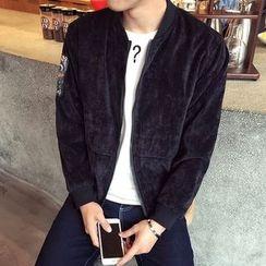 Seoul Boy - Letter Print Zip Jacket
