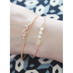 kitsch island - Faux-Pearl Layered Bracelet