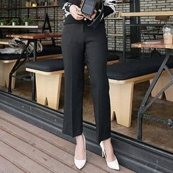 DISCOSALON - Flat-Front Dress Pants