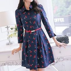 Q.C.T - Print 3/4-Sleeve Dress