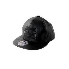 DABAGIRL - Lace-Up Faux-Leather Baseball Cap