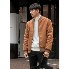 GERIO - Fleece-Lined Faux-Suede Jacket