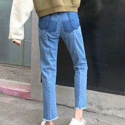 OCTALE - Cropped Straight Fit Jeans