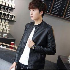 Izme - Faux Leather Jacket