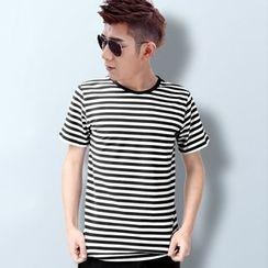 Degolo - Short-Sleeved Striped T-Shirt