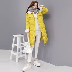 Romantica - Hooded Padded Buttoned Coat