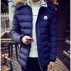 Izme - Furry Hooded Padded Coat
