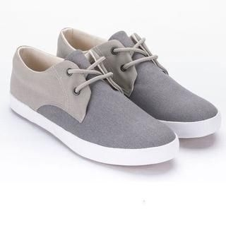 BESTshop - Color-Block Lace-Up Sneakers