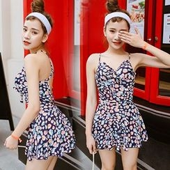 Little Dolphin - Floral Print Swimdress