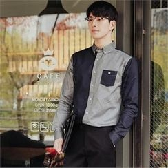 STYLEMAN - Long-Sleeve Color-Block Shirt