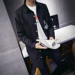 百高 - 印花长衬衫