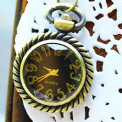 Fit-to-Kill - 3D Glass Pocket Watch - Black