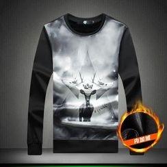 Alvicio - Deer Print Pullover