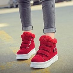 Sunsteps - Velcro Hidden Wedge Platform Sneakers