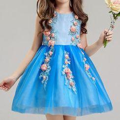 HELLO BABY - Kids Sleeveless Party Dress
