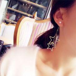 maxine - Star Non-matching Drop Earrings