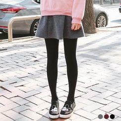 OrangeBear - Woolen Flare Mini A-Line Skirt