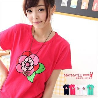 Maymaylu Dreams - Flower-Print T-Shirt