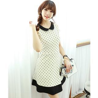 Dodostyle - Polka Dot Sleeveless A-Line Dress