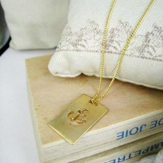 MyLittleThing - Gold Sailor Charm Necklace