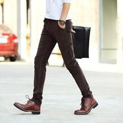 Denimic - Corduroy Slim-Fit Pants