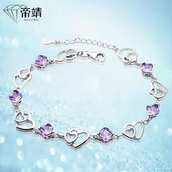 DIJING - Crystal Heart Sterling Silver Necklace