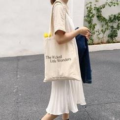 Eastin - Lettering Canvas Shopper Bag