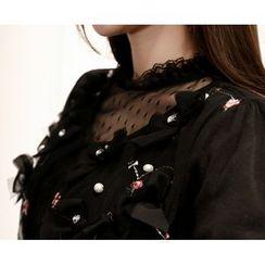 Marlangrouge - Ribbon Embellished Cardigan