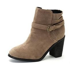 MODELSIS - Faux-Suede Ankle Boots