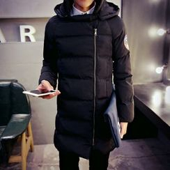 AOBIN - Hooded Padded Long Coat