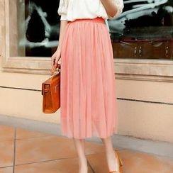 Ando Store - Mesh Midi Skirt