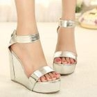 Mancienne - Metallic Wedge Sandals