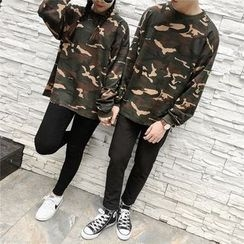 Bonne Nuit - Couple Matching Camo Pullover