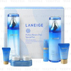 Laneige - Perfect Renew Duo Special Set (6 items): Refiner 120ml + Emulsion 100ml + Eye 10ml + Cream 10ml + Essence 5ml + Night Treatment 5ml