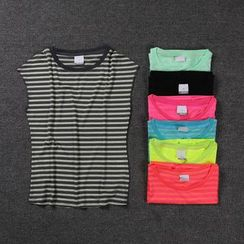 Ariana - Striped Short Sleeve Quick Dry T-Shirt