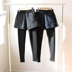 GLAM12 - Inset Shorts Leggings
